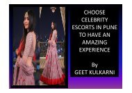 Amazing experience offers by Geet Kulkarni