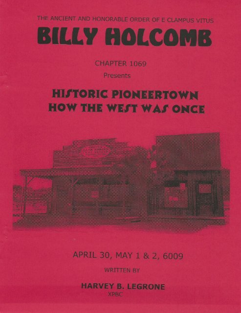 """6009/2004 Spring Clampout \""""Historic Pioneertown\"""""""