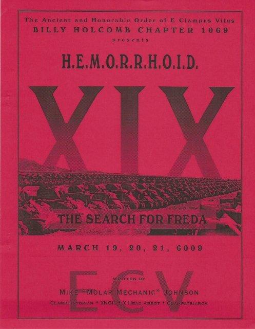 "6009/2004 HEMI XIX \""The Search For Freda\"""