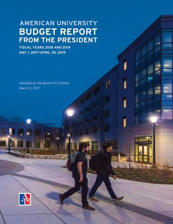 American University Budget Report (FY 2018-2019)