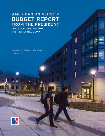 American University Budget Report (FY 2018-2019)