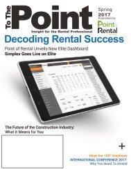 Point of Rental Software News Letter Spring 2017