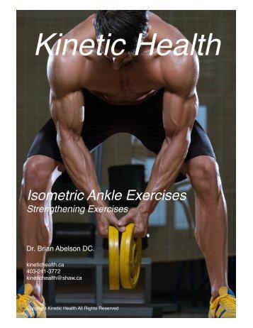 Isometric Ankle Exercises