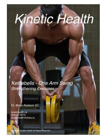 Kettlebells - One Arm Swing
