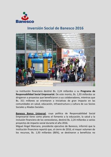 Juan Carlos Escotet- Inversión Social de Banesco 2016