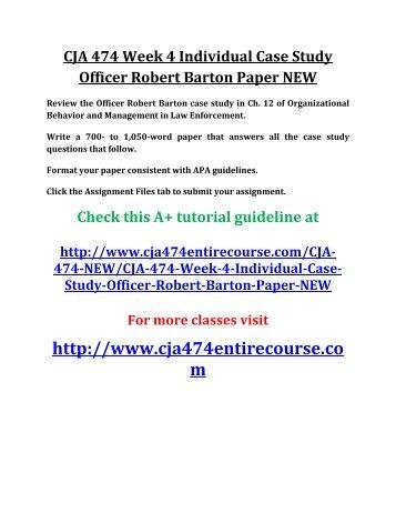 case study officer robert barton paper
