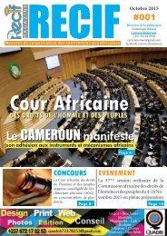 RECIF Magazine N°001 _ Octobre 2015