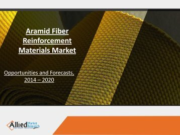 Aramid Fiber Reinforcement Materials Market Analysis and Industry Forecast, 2014-2022