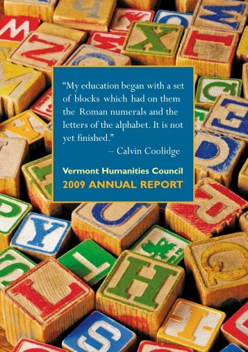2009 annual report - Vermont Humanities Council
