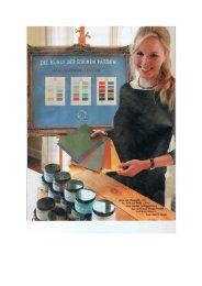 Die Kunst der schönen Farben - Anna von Mangoldt