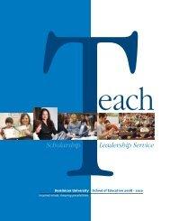 Scholarship Leadership Service - Dominican University