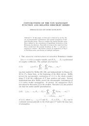 CONVOLUTIONS OF THE VON MANGOLDT FUNCTION AND ...