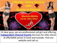 Dating Enjoy with Escorts in Chennai