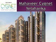 Lavish Apartments by Mahaveer Cygnet, Bangalore - Call: (+91) 7289089451
