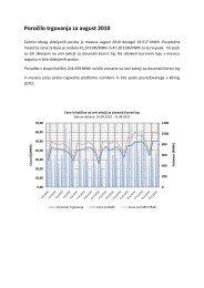 Poročilo trgovanja avgust 2010