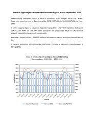 Poročilo trgovanja september 2012