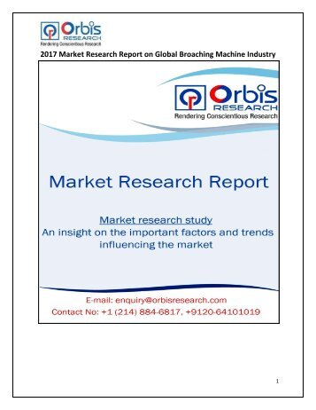 Global Broaching Machine Market