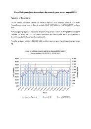 Poročilo trgovanja avgust 2015