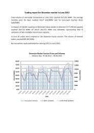 Trading report June 2012