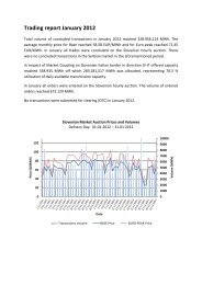 Trading report January 2012