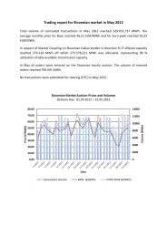 Trading report May 2012