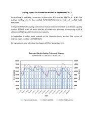 Trading report September 2012