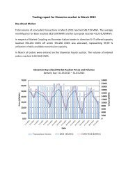 Trading report March 2013