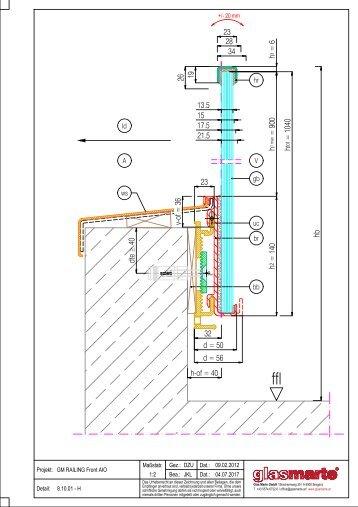 GM RAILING FRONT AIO - Detailzeichnung