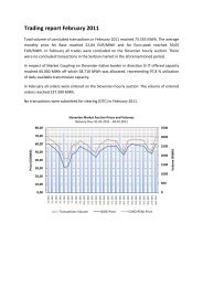 Trading report February 2011