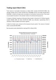 Trading report March 2011