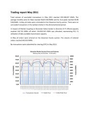 Trading report May 2011