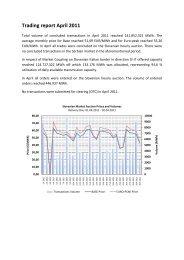 Trading report April 2011