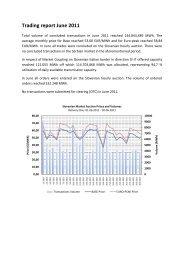 Trading Report June 2011