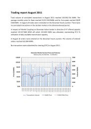 Trading Report August 2011