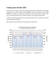 Trading report October 2010