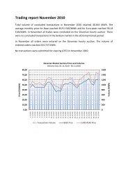 Trading report November 2010