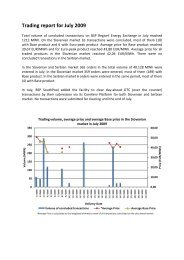Trading report July 2009