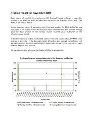 Trading report November 2009