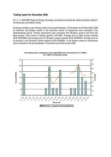 Trading report November 2008