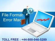 How to Fix File Format Error in Mac