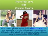 Chennai Escorts Services with Neerja Saini