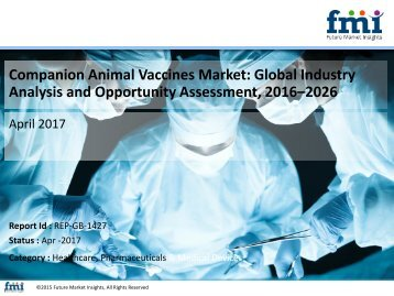 Companion Animal Vaccines Market Volume Analysis, Segments, Value Share and Key Trends 2016-2026