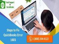 How to Troubleshoot QuickBooks Error 1603? Call 18002044122