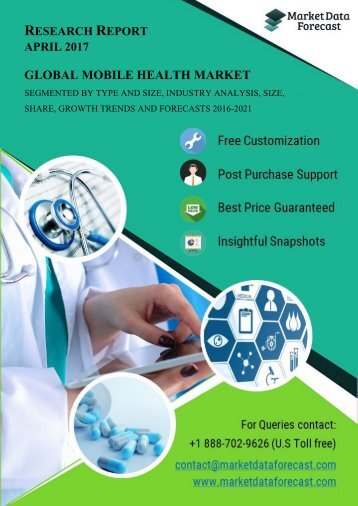 Mobile Health Market estimated to grow at a CAGR of 35.65% by 2021