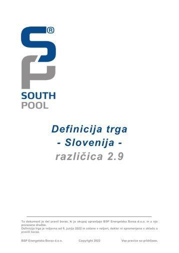 Definicija trga Slovenija