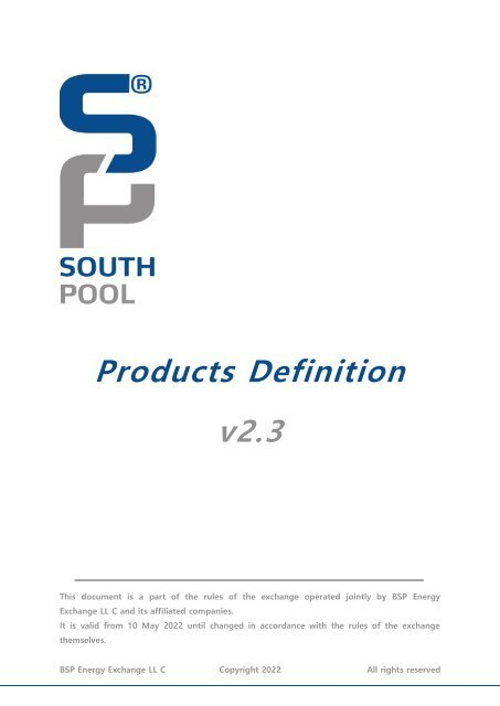 Products Definition