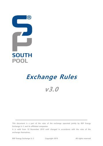 Exchange Rules