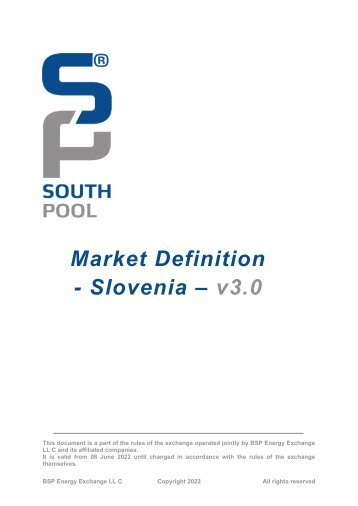 Market Definition Slovenia