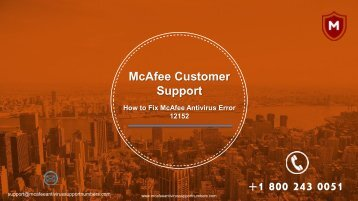 How to Fix McAfee Antivirus Error 12152| 1800-243-0051 McAfee Support