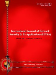 IJNSA - March Issue 2017